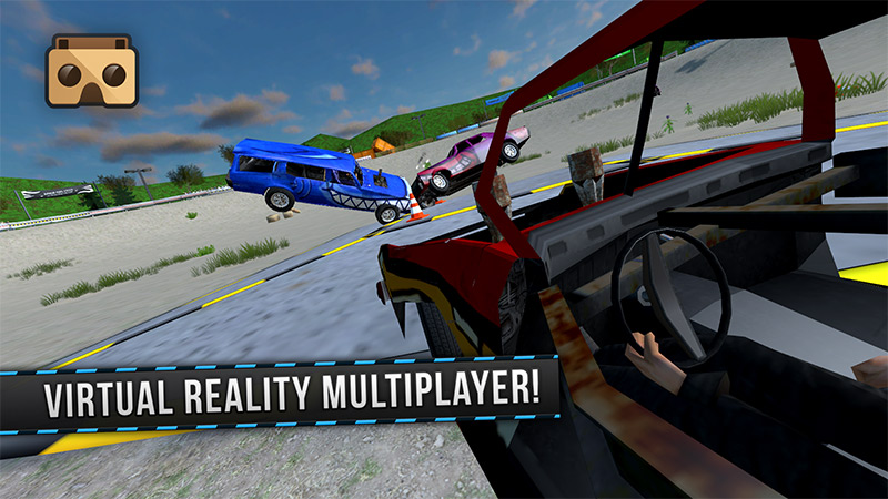 Car crashing into each other, Demolition Derby VR screenshot