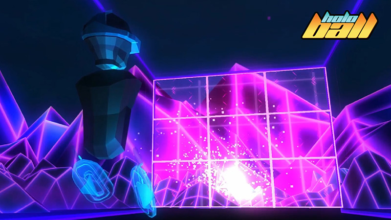 HoloBall Pongo game for VR, videogame screenshot
