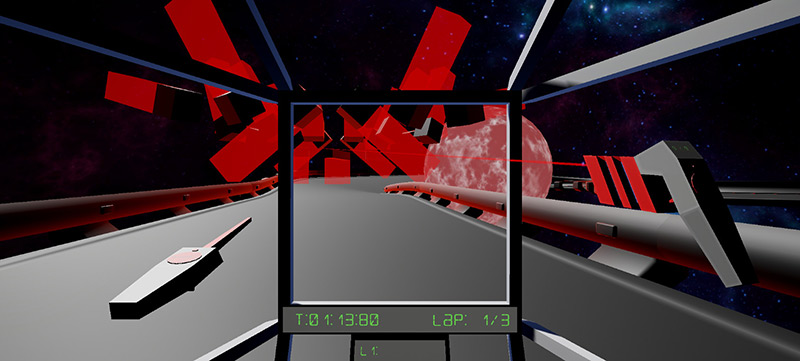 RacetronicVR raching and shooting game screenshot